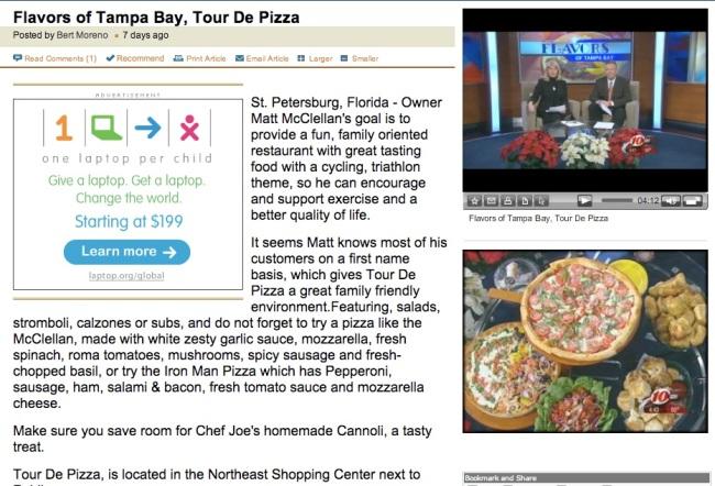 TOUR DE PIZZA NA TV