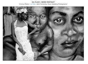 Clique nesta foto desta linda noiva negra para visitar a página das fotos premiados do Vinicius pela ISPWP no concurso de inverno